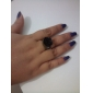 Ring Daily Jewelry Alloy Acrylic Women Statement Rings 1pc,Adjustable Black