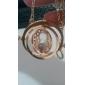 Feminino Colares com Pendentes 18K ouro Liga Moda Europeu Dourado Branco Roxo Azul Rosa claro Jóias Para Diário Casual 1peça