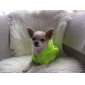 Dog Hoodie Dog Clothes Waterproof Solid Green Blue Blushing Pink