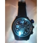 V6 Hombre Reloj de Pulsera Cuarzo Cuarzo Japonés Silicona Banda Negro Blanco Negro Azul