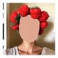 6 PCS Magic Strawberry Sponge Hair Styling Clip