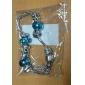 여성 참 팔찌 유니크 디자인 패션 유럽의 라인석 합금 보석류 실버 - 블루 보석류 용 크리스마스 선물 1PC