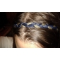 Bohemian Style Minimalist Double Braid Leather Hair Band
