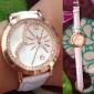 Mulheres Relógio de Moda Quartz Banda Brilhante / Heart Shape Preta / Branco / Vermelho / Marrom marca-
