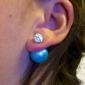 여성 스터드 귀걸이 패션 의상 보석 모조 다이아몬드 합금 보석류 제품 파티 일상 캐쥬얼