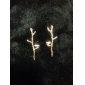 Fashion Bird And Branch Shape Golden Alloy Stud Earrings(1 Pair)