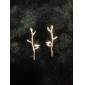 мода птица и ветка золотого цвета сплава серьги (1 пара)