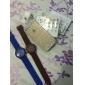 아가씨들 패션 시계 캐쥬얼 시계 석영 실리콘 밴드 캔디 블랙 화이트 블루 레드 브라운 핑크 퍼플 노란색 카키