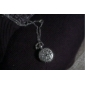 Women's Hollow Cover Silver Alloy Quartz Analog Necklace Watch Cool Watches Unique Watches