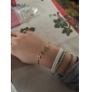 Bracelet Cuff Bracelet Alloy Others Unique Design Fashion Daily Casual Christmas Gifts Jewelry Gift Gold Black,1pc