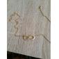 Femme Filles´ Pendentif de collier Infini Gemme Alliage Ajustable Or Noir Argent Bijoux Pour Halloween Quotidien 1pc