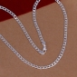 Necklace Chain Necklaces Jewelry Wedding / Party / Daily / Casual Fashion Silver / Sterling Silver Silver 1pc Gift