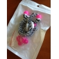 3.5mm Flat Print Pattern Earphone In Ear With Microphone for Phones