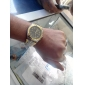 Hommes Montre Bracelet Quartz Alliage Bande Argent Doré Or Blanc Noir Or-Noir