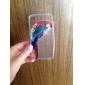 попугай шаблон ТПУ Мягкий чехол для iPhone 4 / 4s
