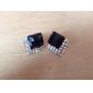 Коробка, полная черных алмазов драгоценный камень алмаз кусочек роскошных европейских и американских ретро черный драгоценный камень алмаз серьги E72