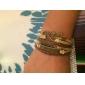 Women's Men's Charm Bracelet Leather Bracelet Basic Love European Fashion Vintage Plaited Initial Jewelry Personalized Leather AlloyLove