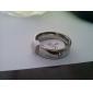 Классические кольца Титановая сталь Простой стиль Бижутерия Для вечеринок 1шт