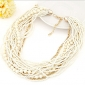 Women's Strands Necklaces Statement Necklaces Jewelry Alloy Fashion European Elegant Bohemian Festival/HolidayBlack Beige Red Blue