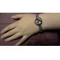 Mulheres Relógio de Moda Bracele Relógio Quartzo Banda Elegantes Branco Roxa Branco Roxo