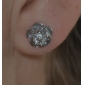 Woman Romantic Cherry  Zircon Silver Earrings
