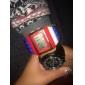 Unisex Modeklocka Digital LCD / Kalender / Kronograf / alarm Plast Band Armbandsur / Godis Multi-Färgad