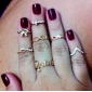 Women's Knuckle Ring Love Costume Jewelry Personalized Rhinestone Imitation Diamond Alloy Circle Animal Shape Butterfly Infinity Jewelry