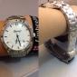 Mulheres Relógio Elegante Quartz Lega Banda Prata marca-