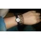 Mulheres Relógio de Moda Quartzo Quartzo Japonês Couro Banda Preta Branco Azul marca