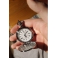 Homens Relógio de Bolso Quartzo Lega Banda Vintage Prata