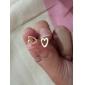 Brincos Curtos Amor Coração Liga Formato de Coração Dourado Prata Jóias Para Festa Diário