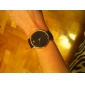 Women's Fashion Watch Quartz Imitation Diamond PU Band Black White Brown Strap Watch