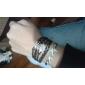 Mulheres Pulseiras com Pendentes Pulseiras de couro Enrole Pulseiras Básico Amizade Multi Camadas Confeccionada à Mão Personalizado Pele