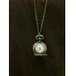 Women's Hollow Leaf Cover Vintage Alloy Quartz Necklace Watch Cool Watches Unique Watches Fashion Watch