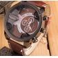 Мужской Спортивные часы Армейские часы Кварцевый Кожа Группа Черный Оранжевый Коричневый