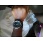 Femme Montre Habillée Montre Tendance Montre Bracelet Quartz Cuir Bande Noir