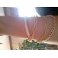 Moda 7cm Mulheres do Golden Liga Chain & Pulseira Link (preto, branco) (1 Pc)