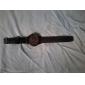 Masculino Relógio de Pulso Quartzo Silicone Banda Preta Branco Vermelho Verde Azul