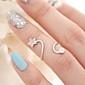 Массивные кольца Сплав Имитация Алмазный В форме звезды Камни по месяцу рождения Серебряный Золотой Бижутерия Для вечеринок Повседневные