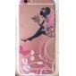 아이폰 6 / 6S 나비 소녀 패턴 TPU 구호 얇은 투명 올 인 클루 시브 백 커버 케이스