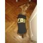Собаки Футболка Желтый / Черный Одежда для собак Лето Полиция/армия / Буквы и цифры Праздник / Мода