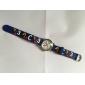 Infantil Relógio de Moda Quartzo Silicone Banda Desenhos Animados Relógios com Palavras Azul