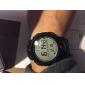 남성 스포츠 시계 손목 시계 디지털 LED LCD 달력 크로노그래프 방수 경보 스톱워치 고무 밴드 멋진 블랙 상표