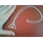 мода (треугольник форма) серебряного сплава ожерелье
