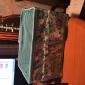Folding Flower Pattern Quadrate Cosmetics Storage Stand Box Makeup Brush Pot Cosmetic Organizer(3 Color to Choose)