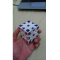 Smooth Speed Cube Gear Speed Magic Cube White Plastic