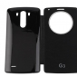 Circular S Window Flip Brushed Texture PU Leather Battery Back Case with Logo for LG G3 D850 LS990(Assorted Colors)