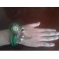 Femme Montre Tendance Bracelet de Montre Quartz Polyuréthane Bande rétro Bohème Noir Bleu Rouge Orange Vert