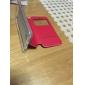 ultrafino cor sólida pu couro + caso janela aleta inteligente TPU para iphone 6s 6 plus com kickstand