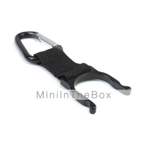 Water Bottle Locking Carabiner - Black